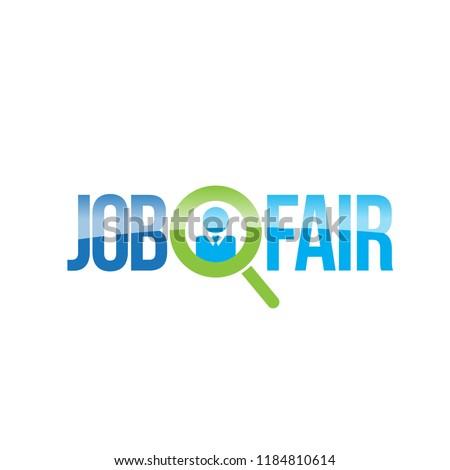 Job Fair Colorful Creative Vector Logo