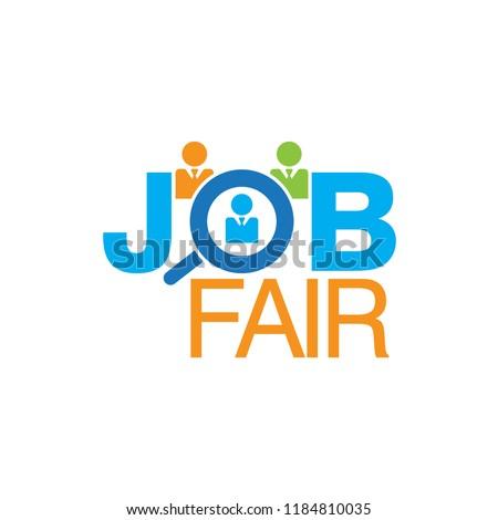 Job Fair Colourful Vector Creative Logo