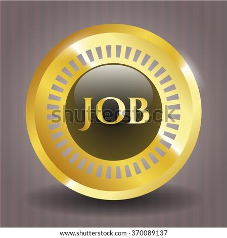 Job gold shiny emblem