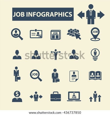 job infographics icons #436737850