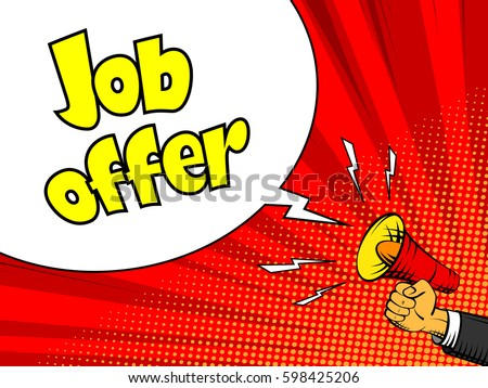 job offer advertisement poster