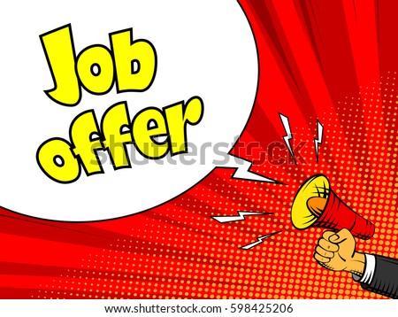 job offer advertisement poster