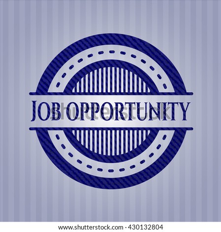 Job Opportunity badge with jean texture