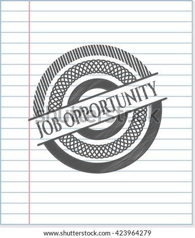 Job Opportunity draw (pencil strokes)