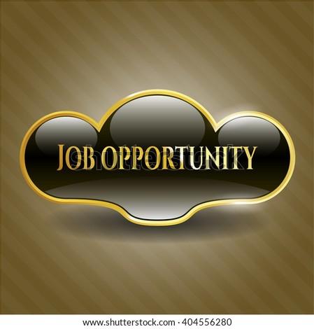 Job Opportunity gold emblem