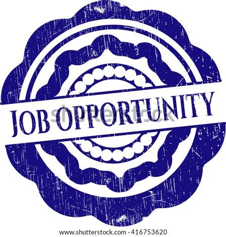 Job Opportunity grunge seal