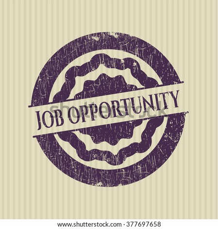 Job Opportunity grunge style stamp