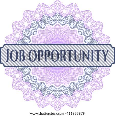 Job Opportunity rosette