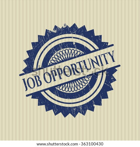 Job Opportunity rubber grunge seal