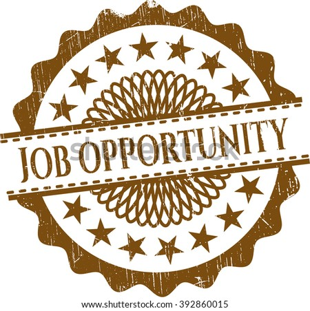 Job Opportunity rubber grunge texture seal