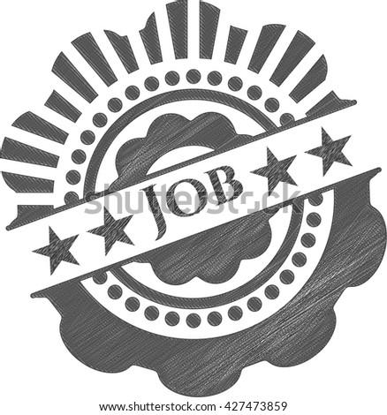 Job pencil strokes emblem