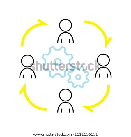 Job rotation icon concept