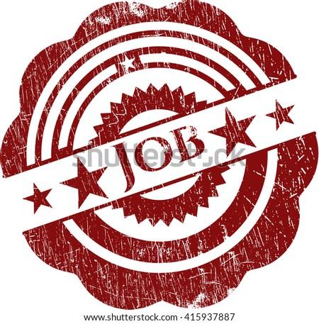 Job rubber grunge stamp