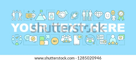 Job satisfacion word concepts banner. Your text here. Corporate environment. Isolated lettering typography idea with linear icons. Employee engagement. Customer loyalty. Vector outline illustration