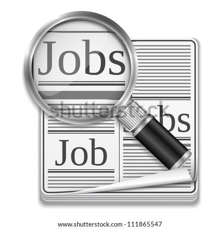 Job search concept, vector eps10 illustration