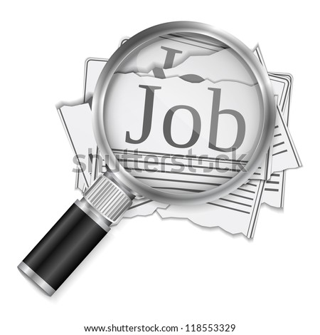 Job search concept, vector eps10 illustration - stock vector