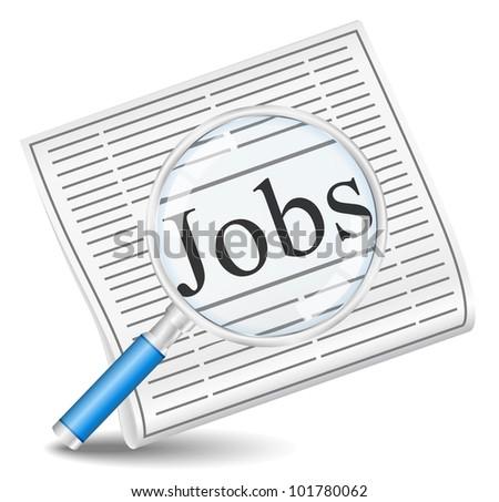 Job Search, vector eps10 illustration