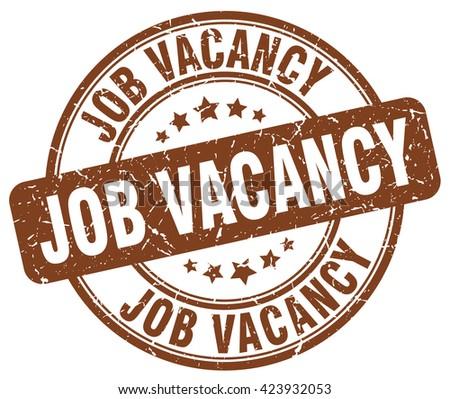 job vacancy brown grunge round