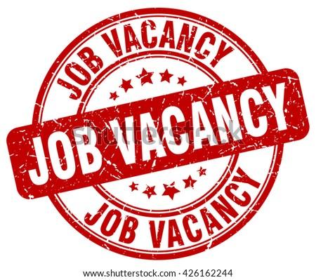 job vacancy red grunge round