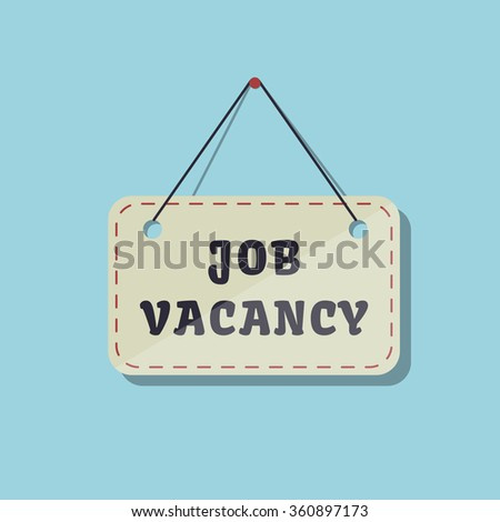 job vacancy sign vector