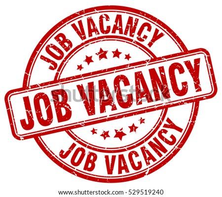 job vacancy stamp red round