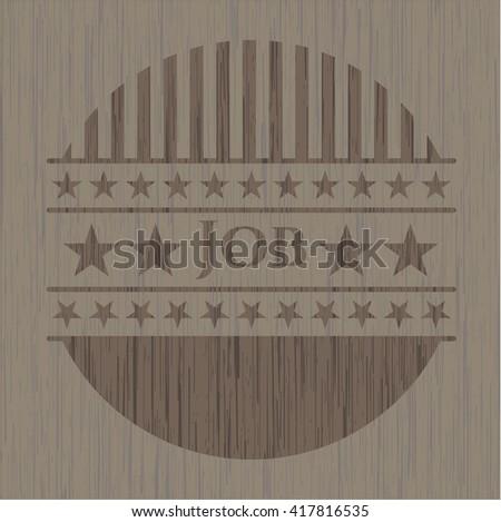 Job vintage wood emblem