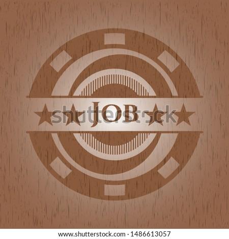 Job wood signboards. Vector Illustration.