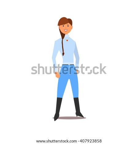 jockey girl isolated primitive