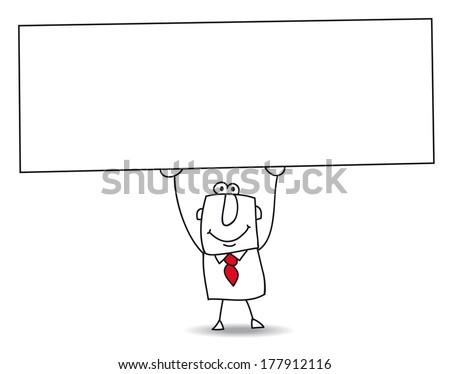 joe  the businessman holds a
