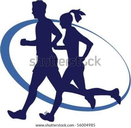 joggers - stock vector