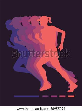 Jogging women vector