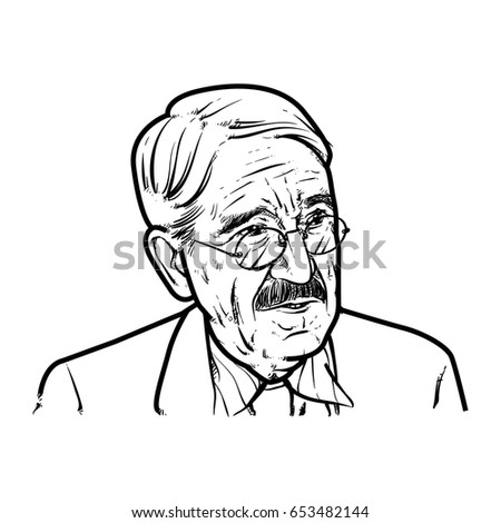 john dewey hand drawing outline