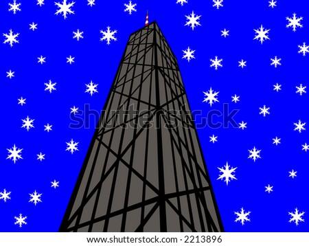 john hancock tower chicago in
