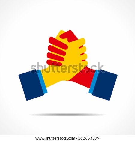 join hand or support hand icon vector