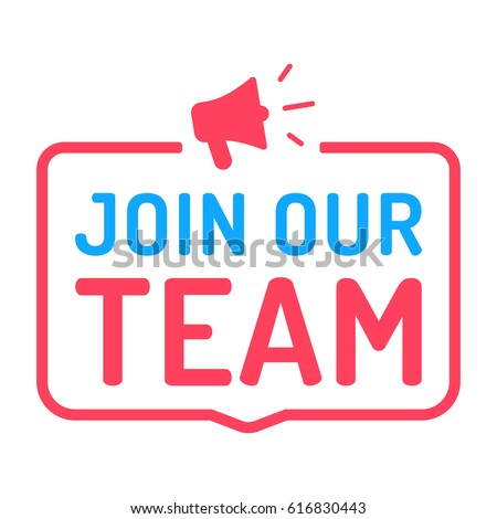 join our team badge with