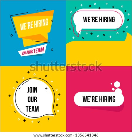 Join our team illustration. Vacancy open recruitment. Job vacancy banner. Open recruitment illustration