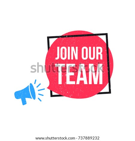 Join Our Team Megaphone Label