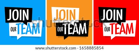 Join our team on speech bubble Foto stock ©