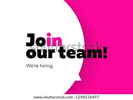 Join Our Team, We are Hiring Vector Background. Trendy Bold Black Typography. Job Vacancy Card Design. Hiring Minimalist Poster Template, Looking for Talents Advertising, Open Recruitment Creative Ad.