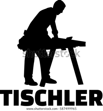 Joiner silhouette with german job title