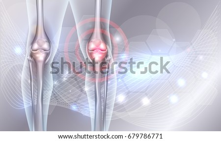 Joint treatment abstract background with beautiful glow and wave at the background