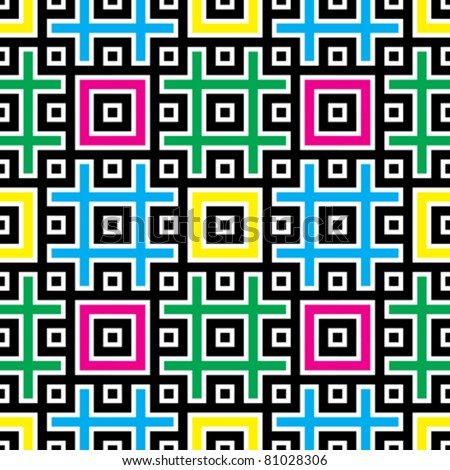 jointless abstract patterns with black background design elements, vector illustration