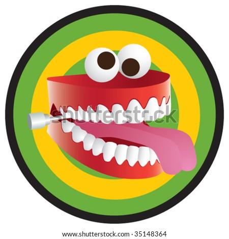 Joke Teeth - stock vector