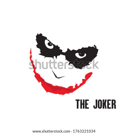 joker angry art design vector