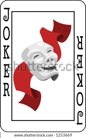 Joker in Deck of Cards http://www.shutterstock.com/pic-1253669/stock-vector-joker-card-from-deck-of-playing-cards-rest-of-deck-available.html