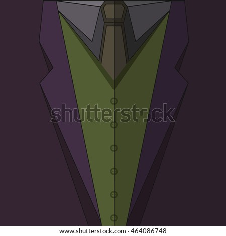 joker costume vector