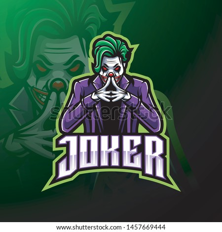joker esport mascot logo design