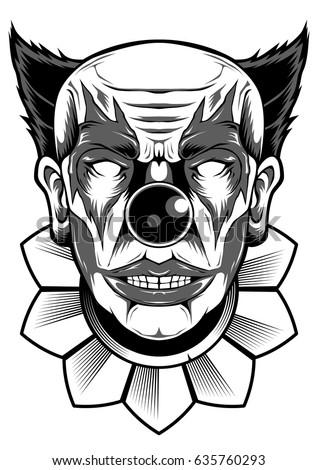Joker Face Clown Design Vector Objects