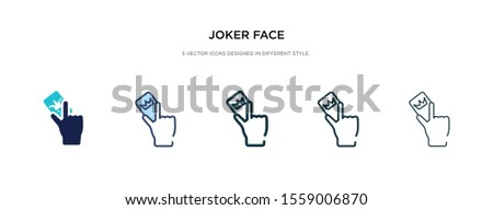 joker face icon in different