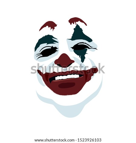 joker face on white background
